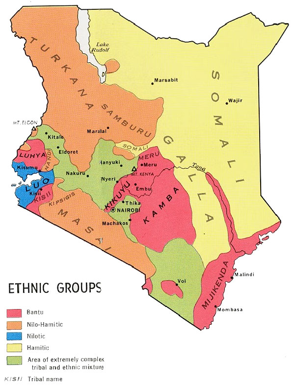 Distretti Etnici del Kenya